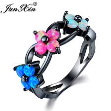 aliexpress buy junxin new arrival black junxin new fashion blue pink white opal flower