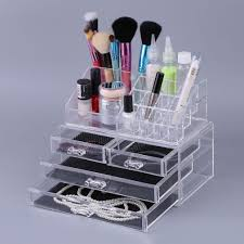 Hair And Makeup Organizer 4 Drawers Cosmetic Organizer Clear Acrylic Jewellery Box Makeup