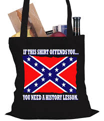 History Of Rebel Flag Confederate Flag History Lesson Tote Bag
