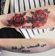 writings lettering le moustache tattoo parlour