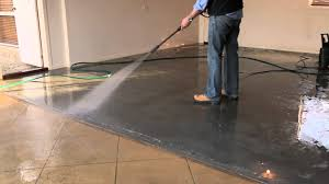 Staining Concrete Basement Floor Elegant Seal Basement Floor Has How To Seal And Colour Old Stained