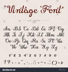 elegant calligraphic script font vector title stock vector