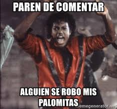 Memes De Michael Jackson - paren de comentar alguien se robo mis palomitas michael jackson 2