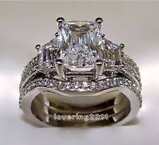 diamonique wedding rings 10k engagement and wedding ring sets ebay