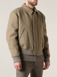 Wool Bomber Jacket Mens Haider Ackermann Bomber Jacket In Green For Men Lyst