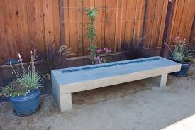 Bench Lighting Outdoor Stone Steps Ideas Landscape Contemporary With Concrete