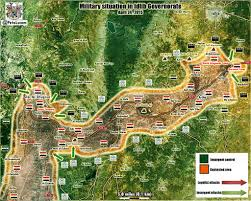 Map Of Al Battle Map Of Al Qaeda Offensive In Idlib And Hama