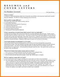 Professional College Resume Resident Assistant Resume Resume For Your Job Application