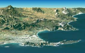 africa map elevation free stock photo of elevation map of cape town south africa