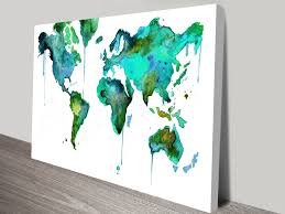 World Map Art Vintage U0026 Modern Map Art Pictures On Canvas Print Australia