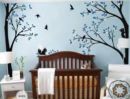full corner tree squirrel bird flower wall decals nursery kids full corner tree squirrel bird flower wall decals nursery kids baby decor art sticker