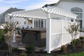 White Vinyl Pergola Kits by Creative Design Vinyl Pergola Kits Comely Vinyl Pergolas And