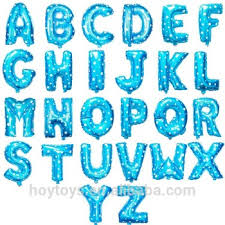 letter balloons blue foil letter balloons alphabet balloons buy alphabet balloon