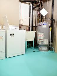 Flooring Ideas For Basement Basement Update How To Paint A Concrete Laundry Room Floor