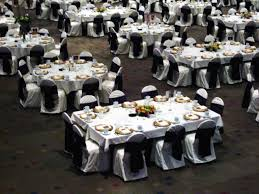 how to set up 10 round tables in banquet wedding reception