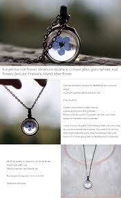 forget me not flower necklace apollobox
