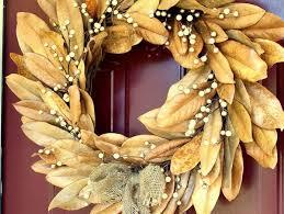 how to make a magnolia wreath u2013 festive home decorating ideas