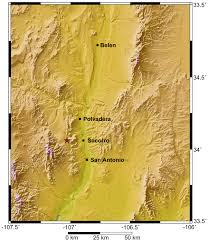 County Map Of New Mexico by New Mexico Seismological Observatory Press Releases