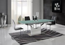 d9879dt dining table by global w white glass top u0026 options