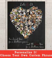 romantic gift for wife personalized anniversary gift heart photo collage anniversary