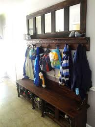 mudroom storage bench made from kitchen cabinets hometalk
