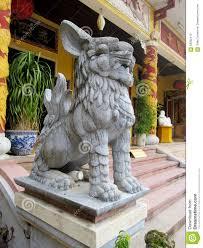 qilin statue qilin guardian statue in pagoda stock photo image 58352413