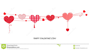 happy valentines day banner happy valentines day card with hanging valentines hearts