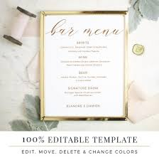 wedding bar menu template best 25 wedding bar menu ideas on wedding drink menu