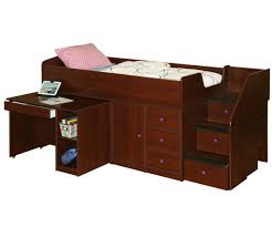 full size captain bed with stairs home beds decoration