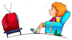 Lazy Boy Illustration Of A Sketch Of A Lazy Boy Watching Tv On A White