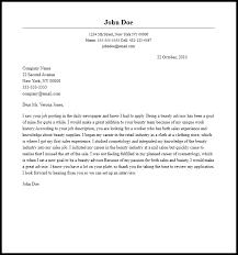 professional beauty advisor cover letter sample u0026 writing guide