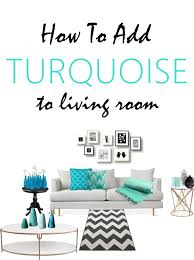 how to add turquoise decor accents sew some stuff