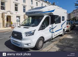 ford motorhome chausson 501 flash diesel motorhome parked in street citadel road