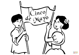 cinco de mayo banner coloring page free printable coloring pages