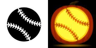 free baseball pumpkin stencil