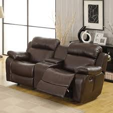 Loveseat Recliners Oxford Creek Lyndhurst Glider Recliner Loveseat With Cupholders In