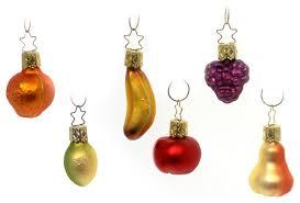 inge glas fruit bowl mini glass ornaments 6 piece set farmhouse