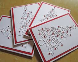 personalized boxed christmas cards christmas cards boxed set embossed card set of 8