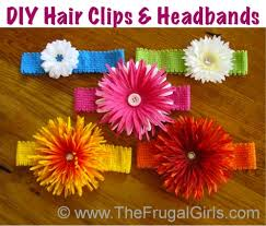 Flower Clips For Hair - how to make cute flower headbands for babies and girls