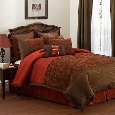 Orange Comforter Burnt Orange Comforter Orangeand Brown Bedspread Go Back Gallery