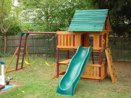 Backyard Playground Slides by Swing Set Installer Nj Cedar Summit Canyon Ridge Playset From