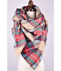 scarf plaid scarf oversized scarf zara style scarf multicolor