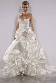 one shoulder wedding dresses 2011 pnina tornai wedding dresses fall 2012 bridal runway shows