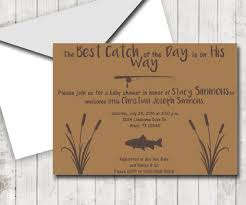 fishing themed baby shower rustic fishing theme baby shower invitation and thank you note set