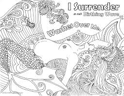 birth affirmation coloring page free printable mermaid water