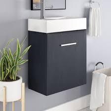 Narrow Bathroom Vanities Narrow Depth Bathroom Vanity Wayfair