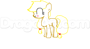 how to draw chibi applejack in 4 simple steps step by step