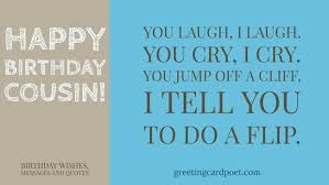 happy birthday cousin wishes messages greeting card poet
