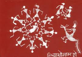 Warli Art Simple Designs Jivya Soma Mashe