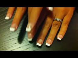 how to do french manicure youtube